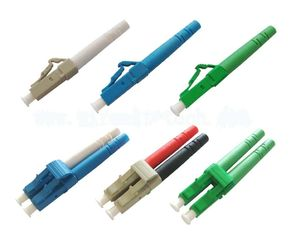 China LC Apc Upc Fiber Optic Cable Connectors SM / MM Blue Beige With Green Color supplier