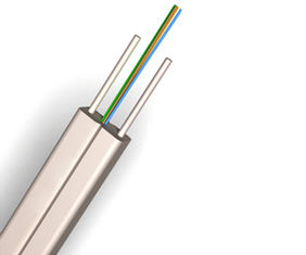 China 1- 4 Core Single Mode Fiber Optic Cable / Indoor FTTH Drop Cable supplier