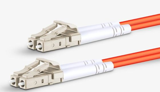 China Multimode Duplex Lc To Lc Fiber Optic Jumpers 2.0mm LSZH OM2 Fiber Optic Patch Cables supplier