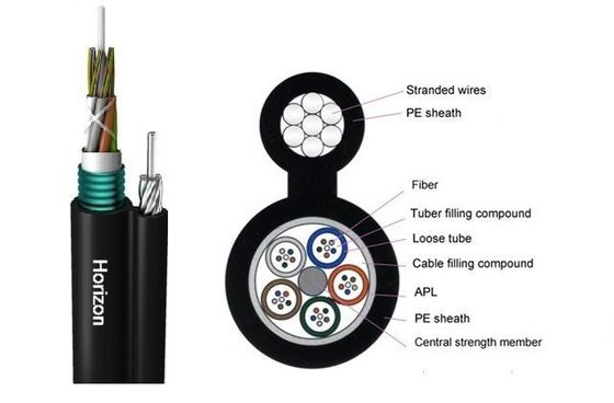 Loose Tube Dielectric Armored Fiber Optic Cable With Single Jacket GYTC8S