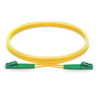 9/125 Single Mode Duplex Fiber Optic Cable Patch Cord With APC To APC Polish