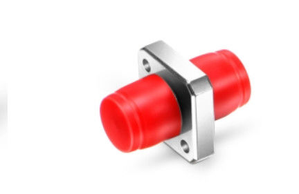 Square Solid Type Fiber Optic Adapter One Piece Metal Extender Red Cap For Engineering Recovery