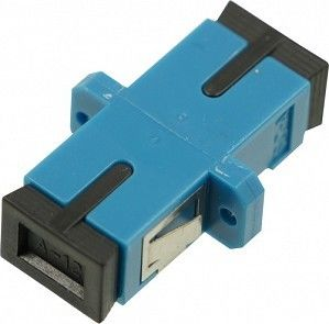 Specialty Variable Fiber Optic Attenuator SC / PC Flanged Blue House 27.4*15.4*9.2mm Size
