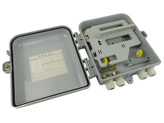 Outdoor Cable Fiber Distribution Box 4 Ports For CATV Networks , ABS Plastic Housing