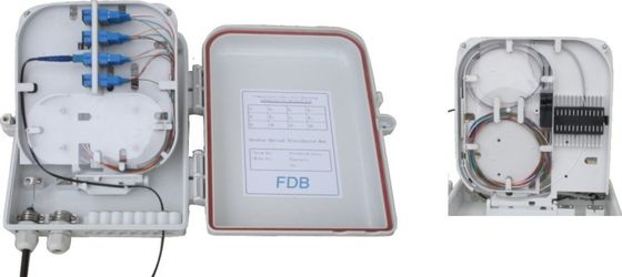 Optical Fiber Distribution Cabinet , Wall Mounted Distribution Box 16F Capaticy