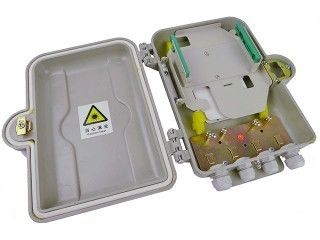 Indoor / Outdoor Fiber Optic Distribution Box 12 Core With SMC Material