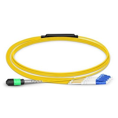 8 Core Single Mode Fiber Optic Breakout Cable Type B With 1310/1550nm