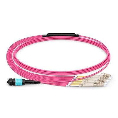 Type A MPO MTP Products MPO Optical Patch Cord 850/1300nm Wavelength